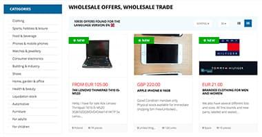 Transparante productpresentatie in een catalogus
